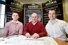 (L-r) Apprentice Dominik Colbron with Gareth Emberton and former apprentice Richard Moss.
